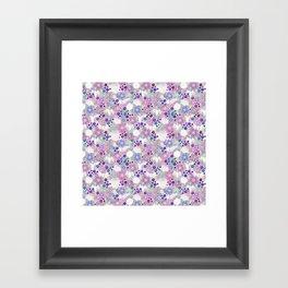 Lavender Crane Floral Framed Art Print