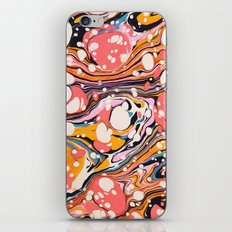 Vintage Burst Gold Rose Watercolor Ink Abstract Pattern Pepe Psyche iPhone & iPod Skin