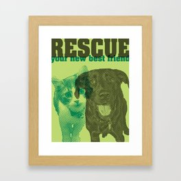 Rescue your new best friend Framed Art Print