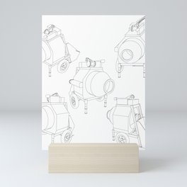 concrete mixer Mini Art Print