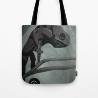 chameleon Tote Bags featuring Chameleon by Andrew Formosa