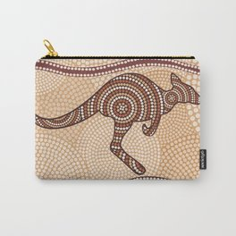Kangaroo painted in abstract aboriginal style Carry-All Pouch