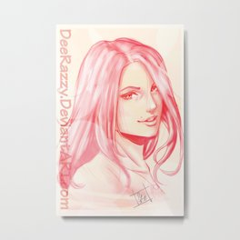 Portriat Illustration  Metal Print