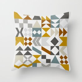 Mid West Geometric 05 Throw Pillow