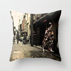 Maiko San in Gion, Kyoto Throw Pillow