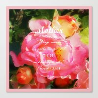 verse Canvas Prints featuring Roses - Verse by Anita Faye