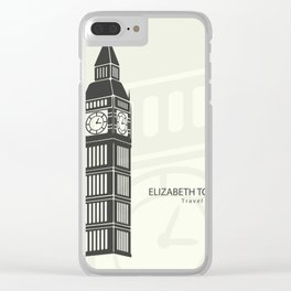 Elizabeth tower clock big Ben in London Clear iPhone Case