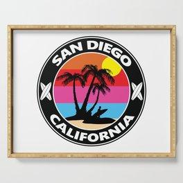 Surf San Diego California Serving Tray