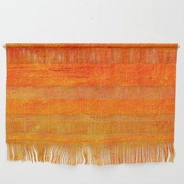 Orange Sunset Textured Acrylic Painting Wall Hanging