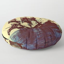 pirate ship Floor Pillow