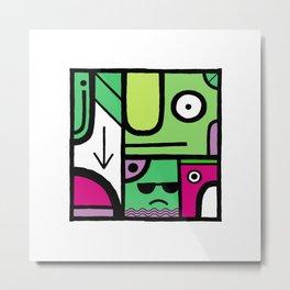 Square 5 Metal Print
