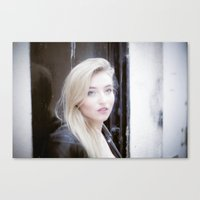 beth hoeckel Canvas Prints featuring Beth by neutral density