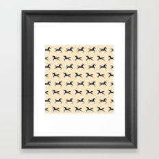 Unicorns Are Real (Pattern) Framed Art Print