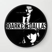 dallas Wall Clocks featuring Roarke & Dallas by whatthefawkes