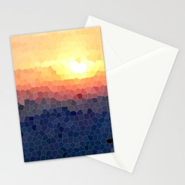Stained-glass Effect Sunset Stationery Cards