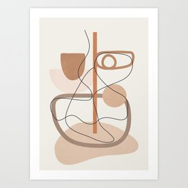 Abstract Line Movement I Art Print