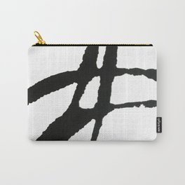 0523: a simple, bold, abstract piece in black and white by Alyssa Hamilton Art Carry-All Pouch