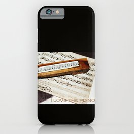 I love the piano iPhone Case