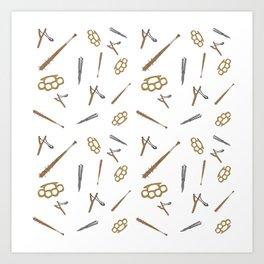 Weapons Pattern Art Print