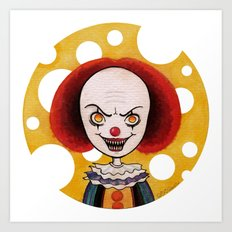 Pennywise Cheese Art Print