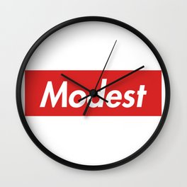 Modest (Supreme) Wall Clock