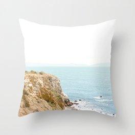 Travel photography Palos Verdes Ocean Cliffs Seascape Landscape I Throw Pillow