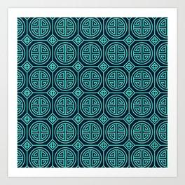 Chinese Pattern Art Print
