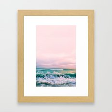 beach sunset photo Framed Art Print