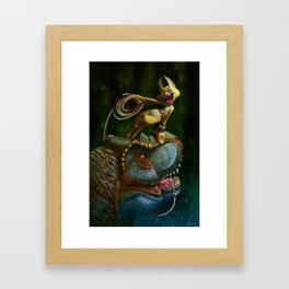 A la peche aux dinos Framed Art Print