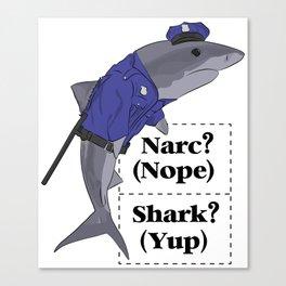 Shark Narc Canvas Print