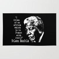 mandela Area & Throw Rugs featuring Mandela by PsychoBudgie
