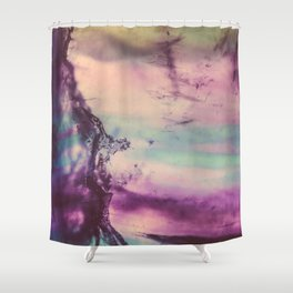 Purple Fluorite from our Earth Shower Curtain