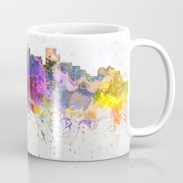 Durban skyline in watercolor background Coffee Mug