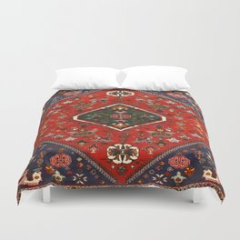 N65 - Colored Floral Traditional Boho Moroccan Style Artwork Duvet Cover