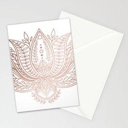 Botanical Lotus - Rose Gold Stationery Cards