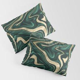 Emerald Green Black Gold Marble #1 #decor #art #society6 Pillow Sham