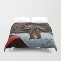 lobster Duvet Covers featuring Lobster by DanByTheSea