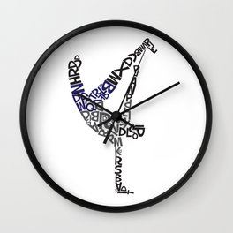 Break Dancer Elefont Wall Clock