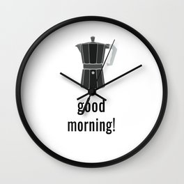 Coffee Lover Cappuccino Cafe Fans Design Wall Clock