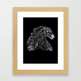Knight Stallion Framed Art Print