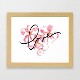 "Plumeria Love - A Romantic way to say, ""I Love You"" Framed Art Print"