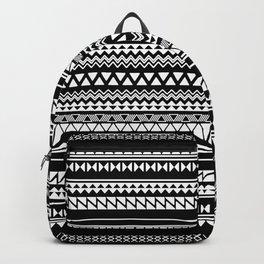 Tribal Pattern of Bamlunda in white and black Backpack