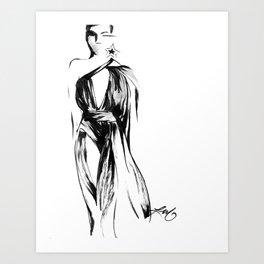 YSL Fashion Sketch Art Print