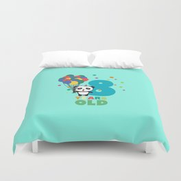 Eight Years 8th Birthday Party Panda Dkloe Duvet Cover