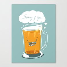 I'm thinking beer... Canvas Print