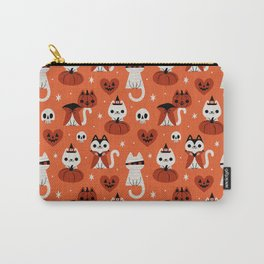 Halloween Kitties (Orange) Carry-All Pouch
