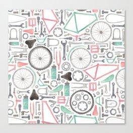 Cycling Bike Parts Canvas Print