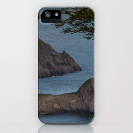 High tide at Three Cliffs Bay Swansea iPhone Case