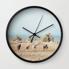 Oregon Wilderness Horses Wall Clock