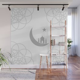 Mosque and crescent moon- symbol of the religion of Islam Wall Mural
